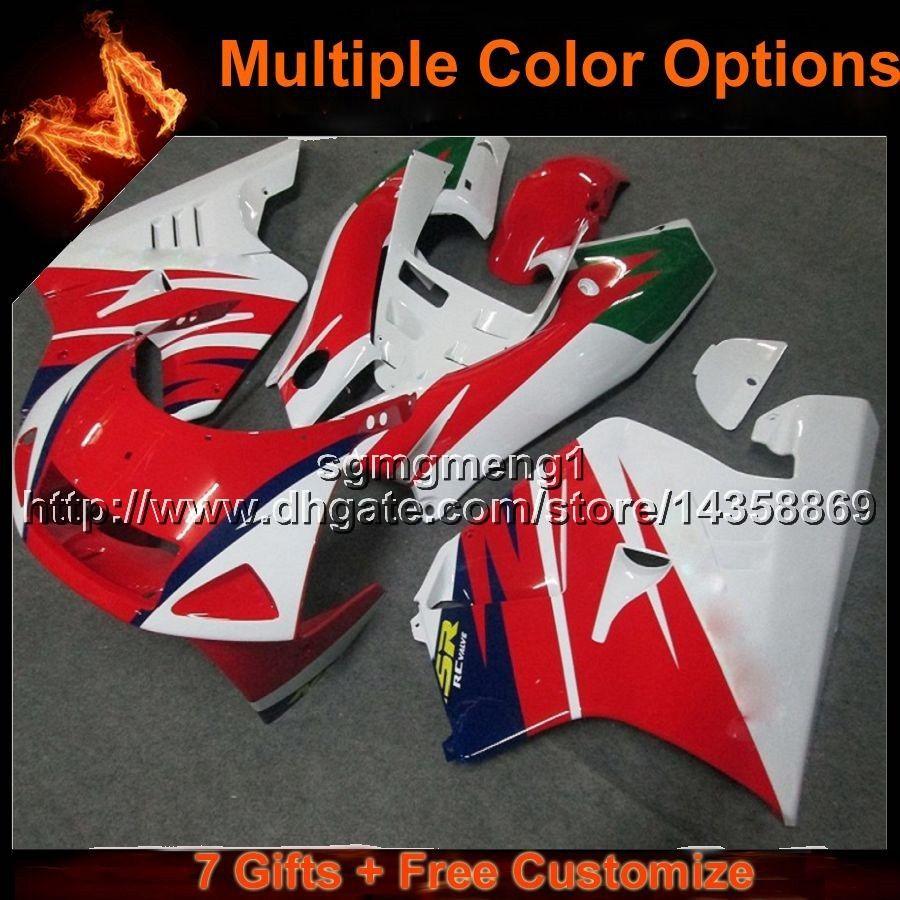 23colors + 8Presentes vermelho ABS Plástico Carroçaria Para Honda NSR250R MC28 1994-1996 MC28 94 95 NSR 250R MC28 96 VERMELHO BRANCO Aftermarket Carenagem