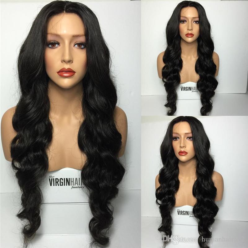 흑인 여성을위한 전체 레이스 가발 바디 웨이브 레이스 프론트 인간의 머리카락 가발 무직 풀 레이스 가발