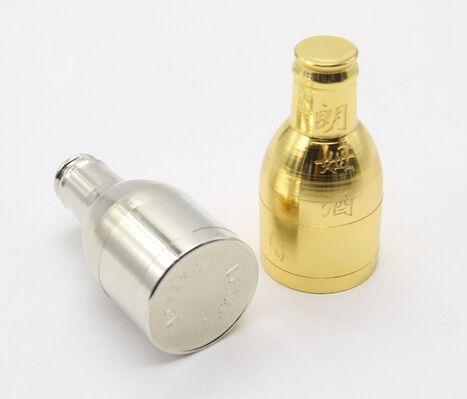 Moedores de metal atacado sliver ouro cores rum garrafa de vinho tipo moedor de acessórios de fumar 2016 frete grátis