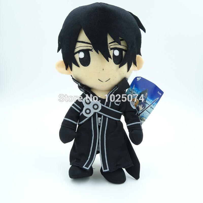 Anime Cos 30cm Sword Art Online Asuna Kirito Kazuto Stuffed Plush Toys Dolls