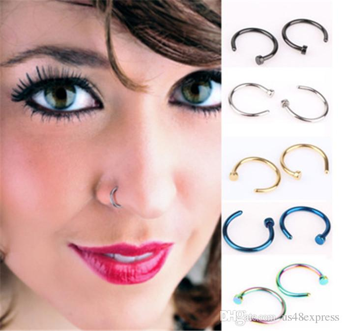 Fake Lip Ring C Clip 8mm Nose Ring Kylie Lip Piercing Falso Nose