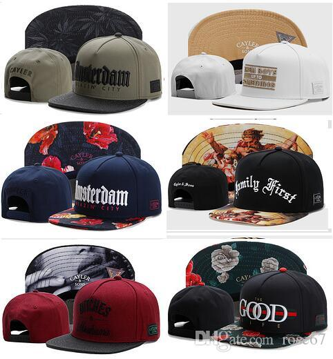 2017 New Fashion Snapback Hats Cayler & Sons bone casquette Flower Problems Baseball Cap Knit Stripe swag gorra Structured dad Hat hip hop
