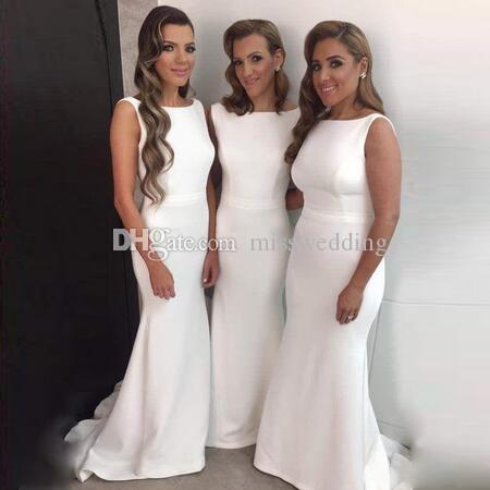 정장 디자인 심플한 디자인 신부 들러리 드레스 인어 공단 드레스 웨딩 파티 특종 목걸이 도매 양질