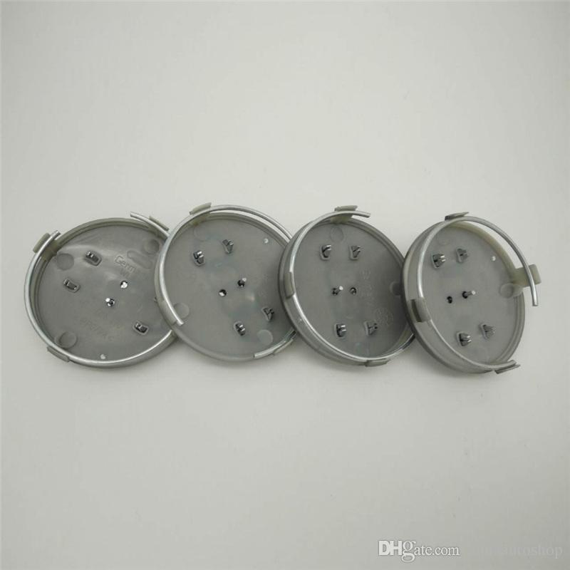 4pcs 60mm Gris Noir Caps Caps Caps Caps Caps Hub Rim Couvre Badge pour A3 A4 A5 A7 A8 Q3 Q5 Q7 Q7 TT S3 S4 8P 4B0601170