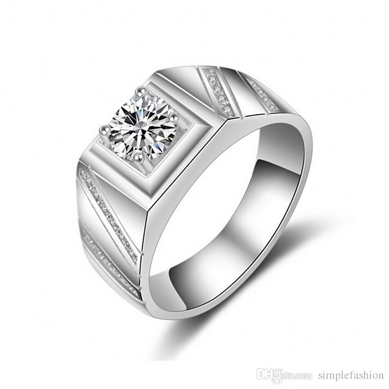 2021 Vecalon Trendy Fashion Jewelry Handmade Wedding Band Ring For Men 1ct Cz Diamond 925 Sterling Silver Male Engagement Finger Ring Gift From Simplefashion 9 05 Dhgate Com