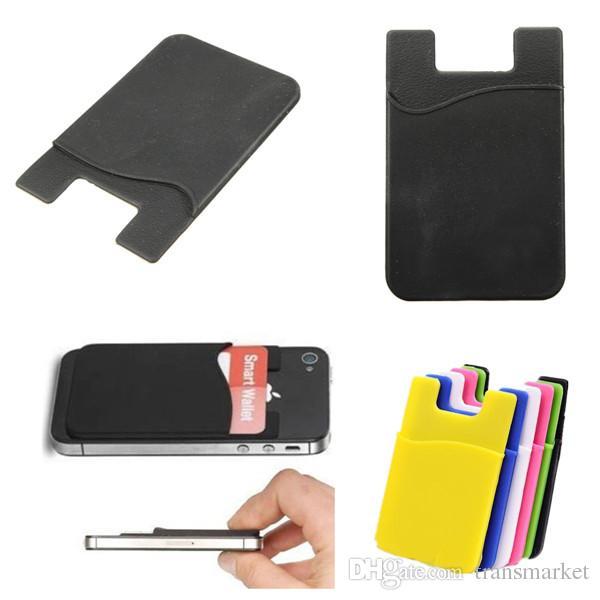 Titolare della carta del portafoglio / silicone del telefono protettiva universale del silicone per il iPhone / altra vendita calda del telefono cellulare