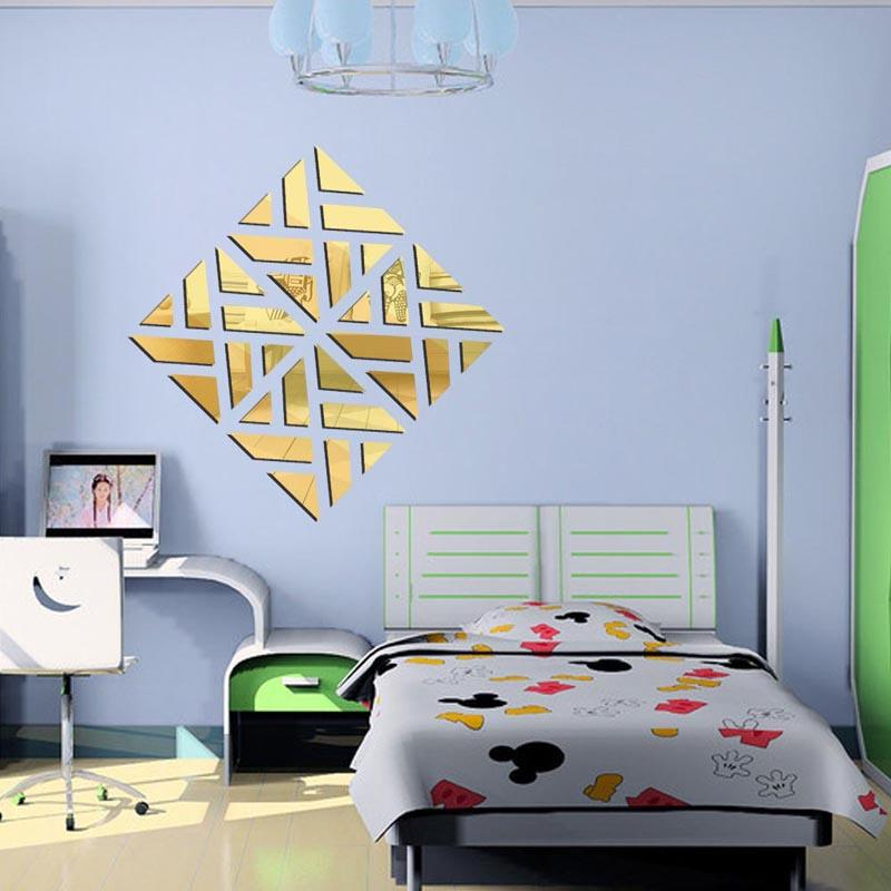 Diy Home Decoration 3D Fashion Mirror Surface Of The Mirror Wall Stickers muurstickers vinilos adhesivos decorativos pared order<$18no track