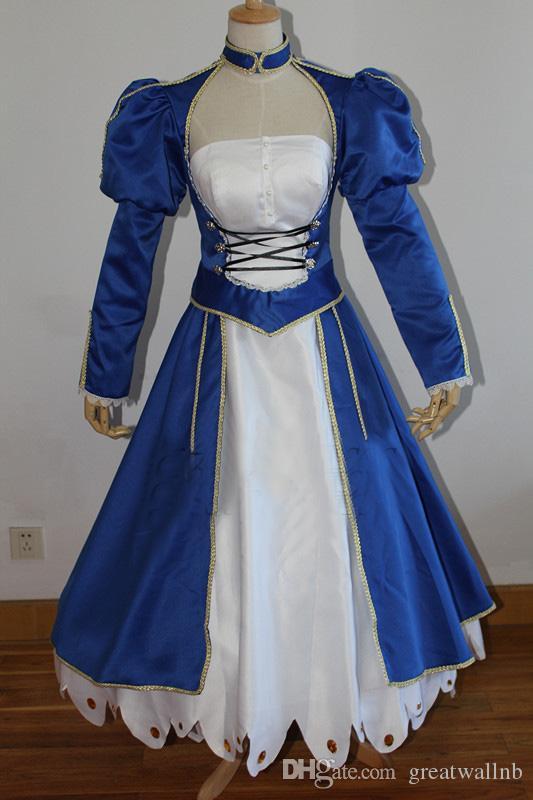 100 ٪ الصورة الحقيقية الملكي الأزرق h8525Fate صفر / مصير البقاء ليلة صابر تأثيري القرون الوسطى اللباس