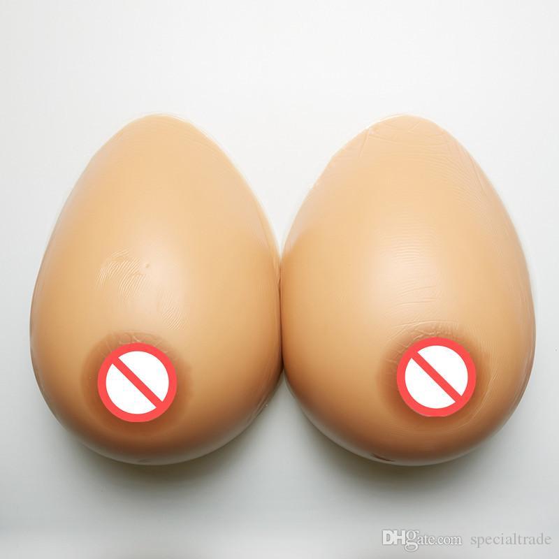 Gratis frakt !! Julklapp! Ett par 10000 g bröstform, varmt silikon stort bröst för visning