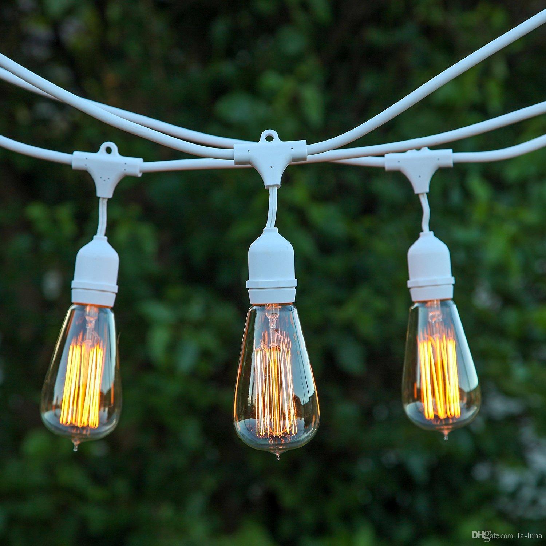 Dhl Outdoor Led Christmas Lights 30ft Outdoor Weatherproof Commercial String Lights With 9 Hanging Sockets Eu Uk Ul Plug Pink String Lights Blue