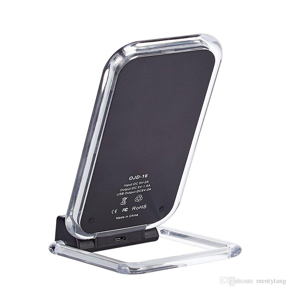 huge selection of e9f7a 256a1 3 Coils Universal WIFI Charger Dual USB Wireless Charging Stand For  IPHONE8/8 PLUS/IPHONE X/Samsung S8/S7 Other Qi Enabled Devices Power Bank  For ...