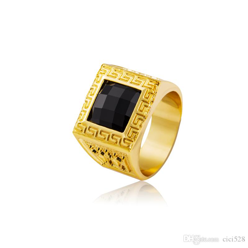 Good Quality Hip Hop Bling Rings Square Black Rhinestone Set Men 18k Gold Plated Punk Rap Finger Ring Cool Night Bar Jewelry Engagement Rings Wedding Rings From Cici528 8 55 Dhgate Com