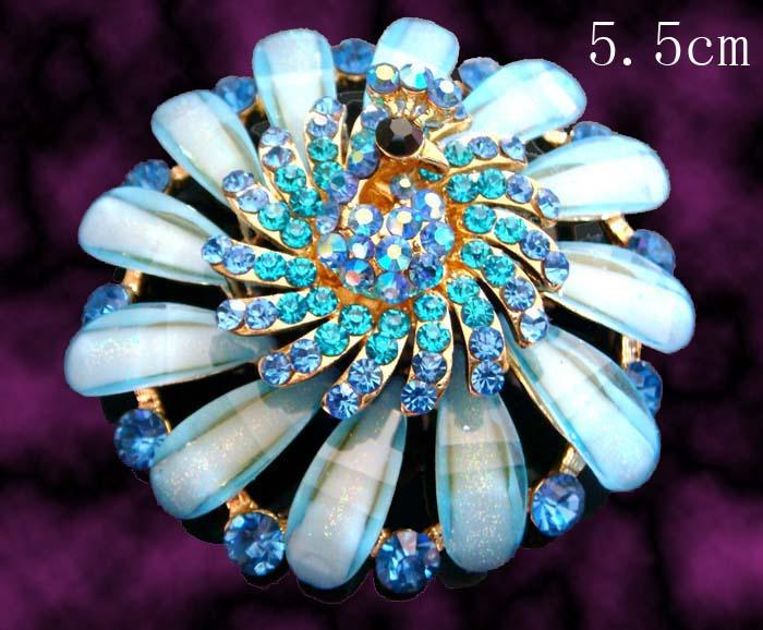 Wholesale hot sell Women Zinc alloy rhinestone peacock fashion Brooches costume jewelry Free shipping 12pcs lot mixed color BH774