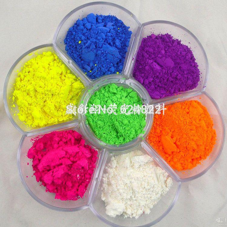 Vente en gros fine couleur en poudre bleu, vert, rouge, rose, jaune, orange et violet vernis à ongles pigmentée NEON faisant des bougies pour la fabrication de savon non cosmétique