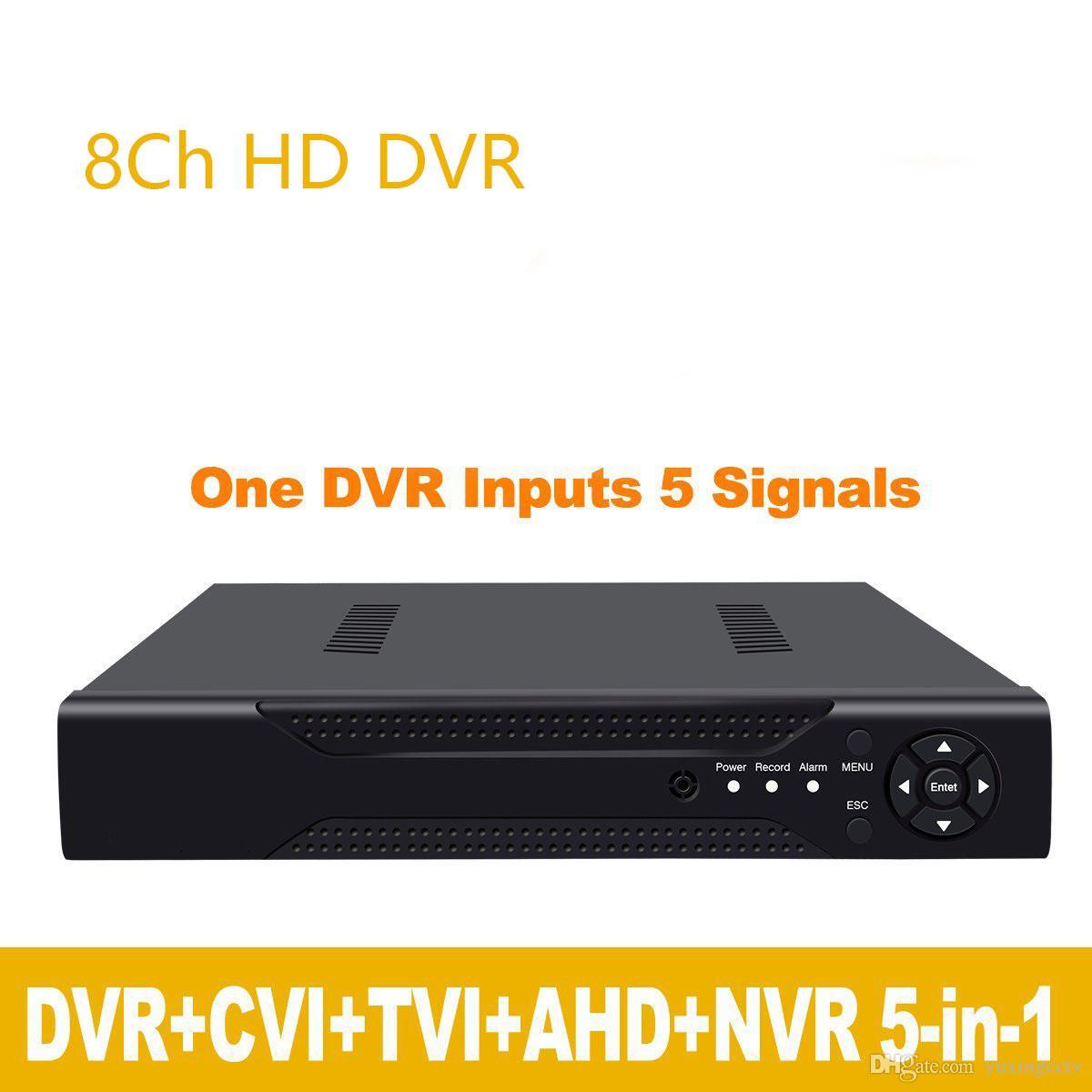 1080P 2mp CCTV Camera 1080N 8 Channel 8CH Surveillance Video Recorder Hybrid 5 in 1 Onvif NVR TVI CVI AHD DVR H.264