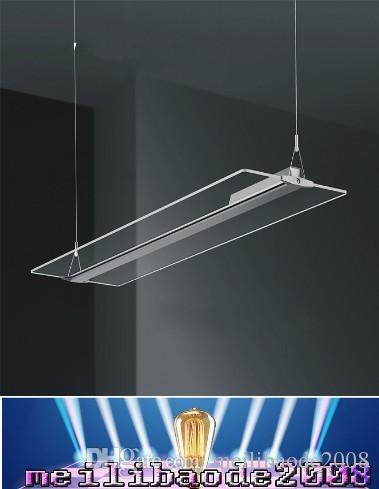 2016 led Frameless light guide plate droplight living room restaurant Hotels office crystal chandelier Creative LED light panel Pendant MYY