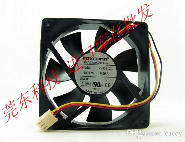 FOXCONN PV802512L 8025 80mm 12V 0.20A 3 선식 3 핀 냉각 팬 케이스 쿨러