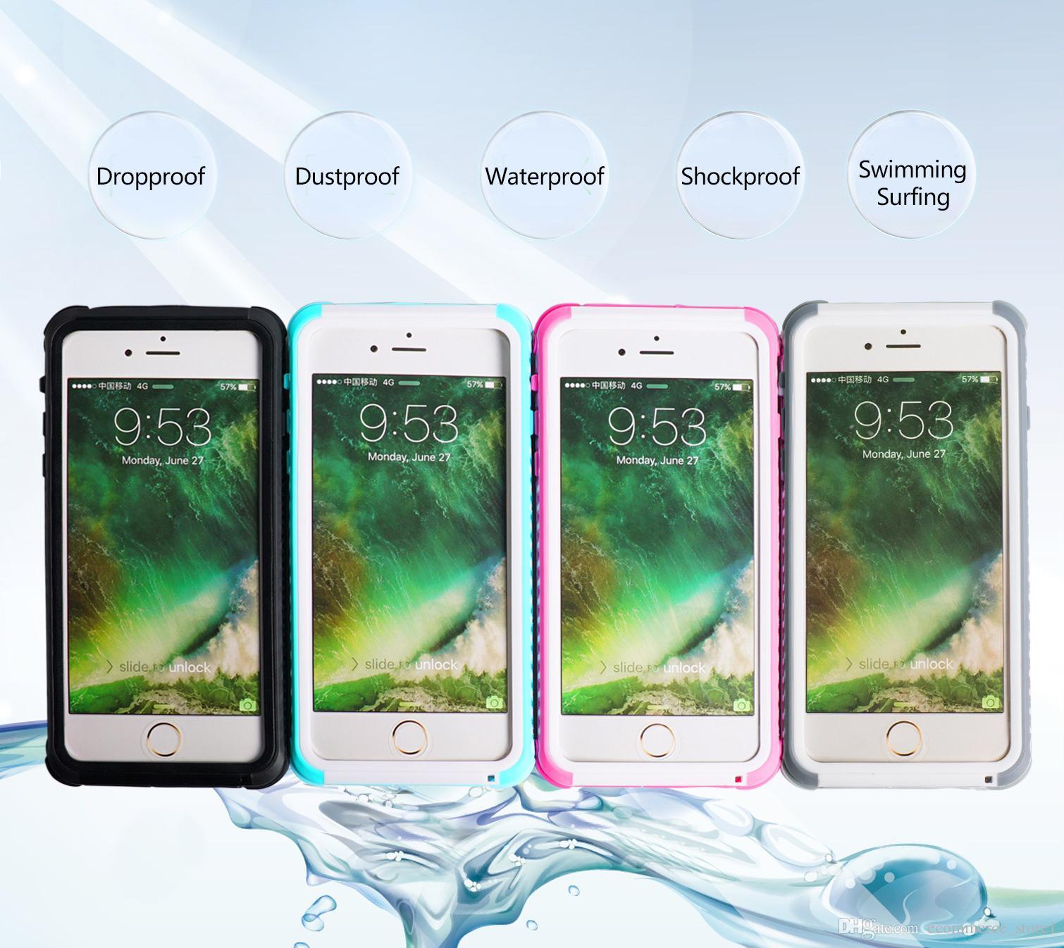 방수 케이스 충격 방지 먼지 방지 수영 서핑 휴대 전화 케이스 커버 아이폰 6 6S 7 7Plus 삼성 S8 플러스