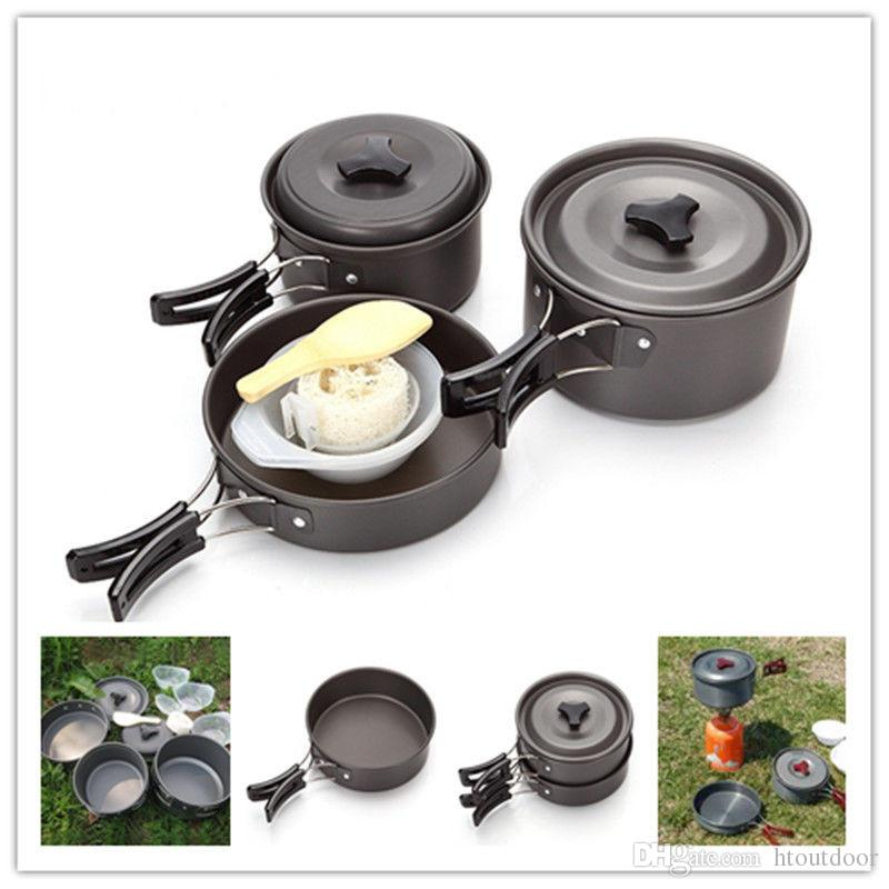 Cookware Pot Lid Camping Picnic Cooking Backpacking Set Aluminum alloy