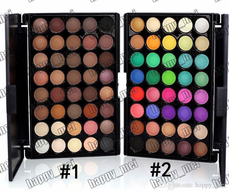 Direto da fábrica DHL Frete Grátis Nova Maquiagem Popfeel 40 Cores da Paleta Da Sombra de Olho! 2 Cores Diferentes