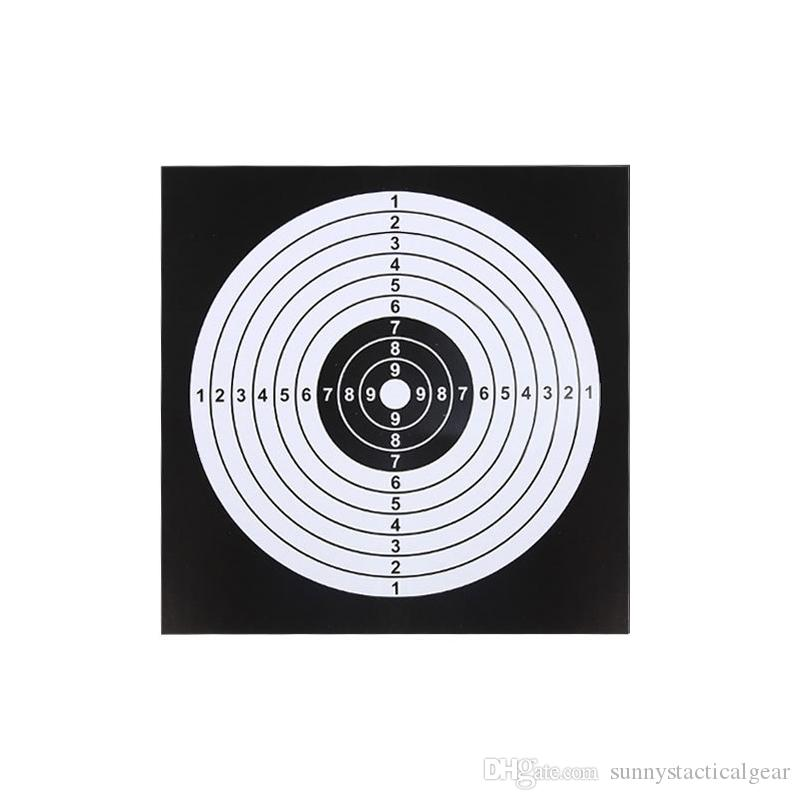 Outdoor BB gun Airsoft Paintball Archery 100pcs Target Papers for 14x14 cm Tactical Trainning Target NO16-004