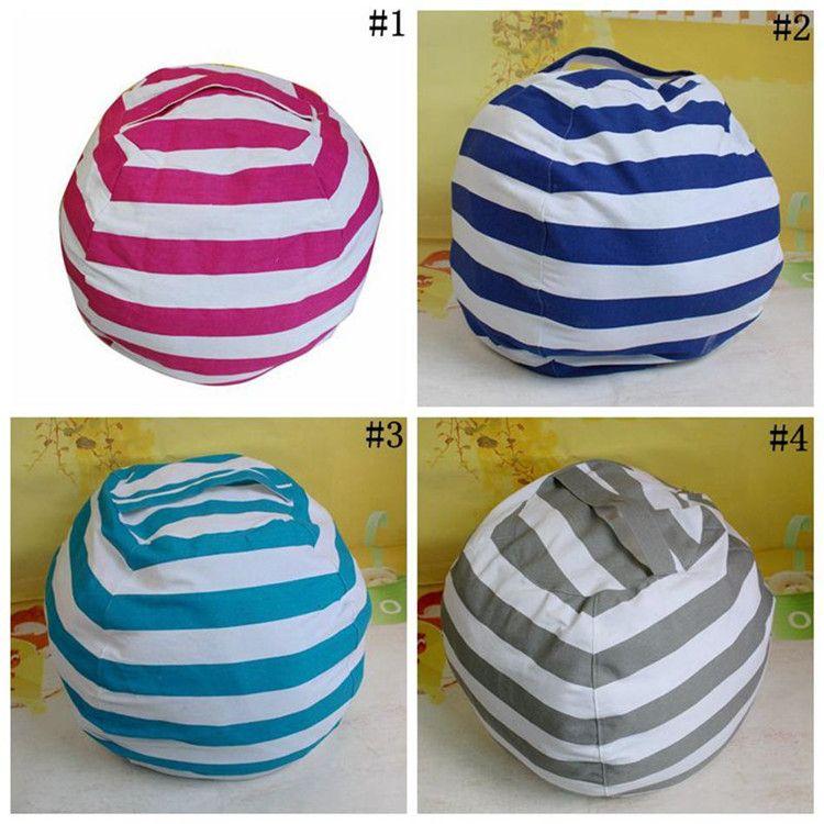 Kids Storage Bean Bags Plush Toys Beanbag Chair Bedroom Stuffed Animal Room Mats Portable Clothes Storage Bag 4 Colors 100pcs IB559