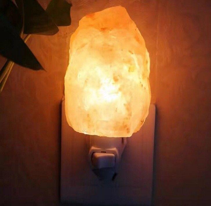 Himalajska Kryształowa Lampa Stołowa Lampa Stołowa Dojazd Noc Wtyczka Wtyczka Naturalna Himalajska Salt Night Light Ionizer Lampa Naturalna LLF