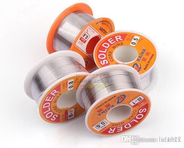 100g 63/37 0.5mm / 0.6mm / 0.8mm Tin Lead Colophane Noyau Fer À Souder Fil Bobine Livraison gratuite