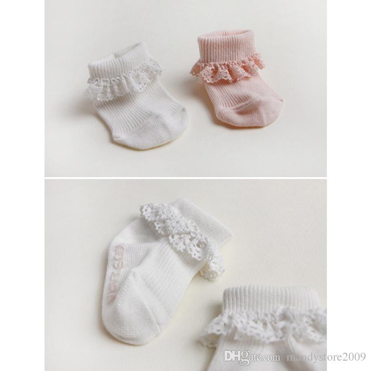 Carino stile coreano calzini per bambini neonate calzini di pizzo di cotone calzini cava bambini antiscivolo calzino gamba bambini calze regalo del capretto 20 paia lotto