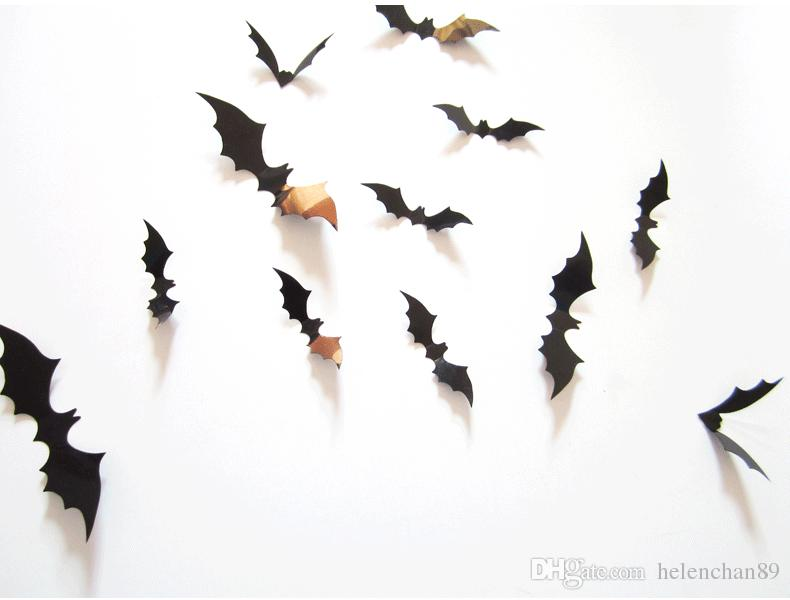 2019 Funny Diy Bat Decors Halloween Party Supplies Decorations Window Decor Scary Bats 3d Wall Decals From Helenchan89 0 21 Dhgate Com