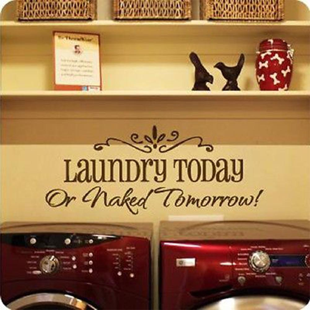 Laundry Today Diy Art Wall Decal Decor Room Stickers Vinyl Home ...