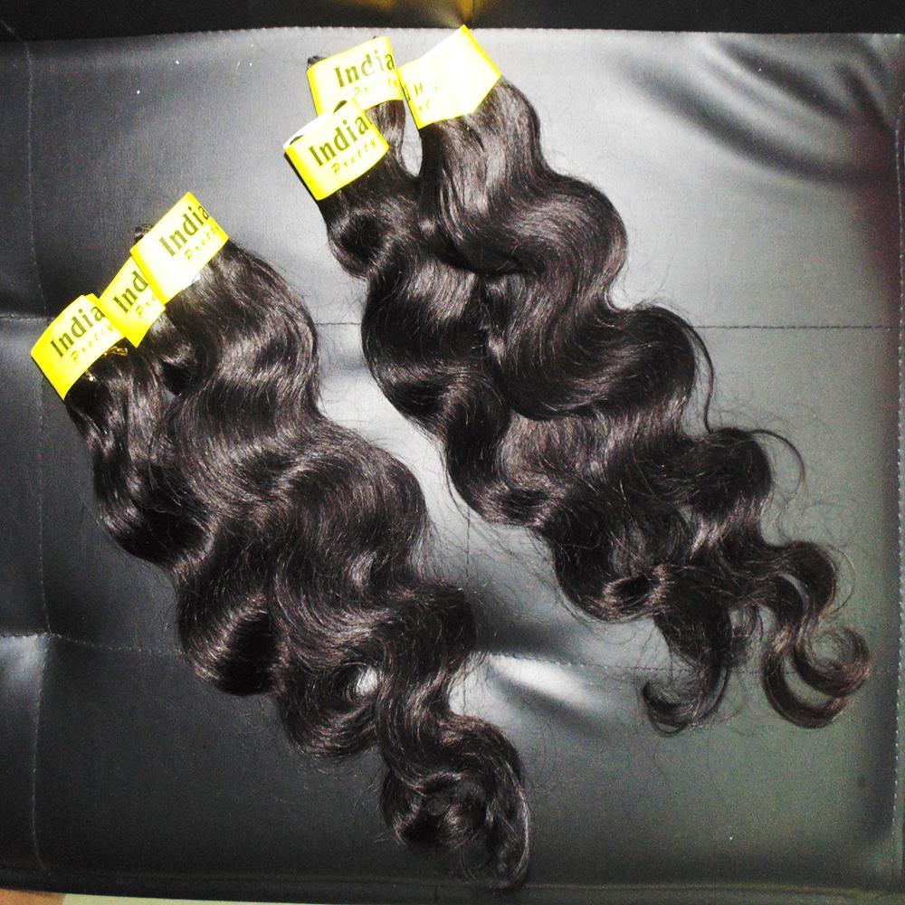 10PCS / الكثير أرخص 100٪ موجة الجسم الهندي معالجتها لون الشعر اللحمة الإنسان الطبيعي الشعر النسيج بسرعة