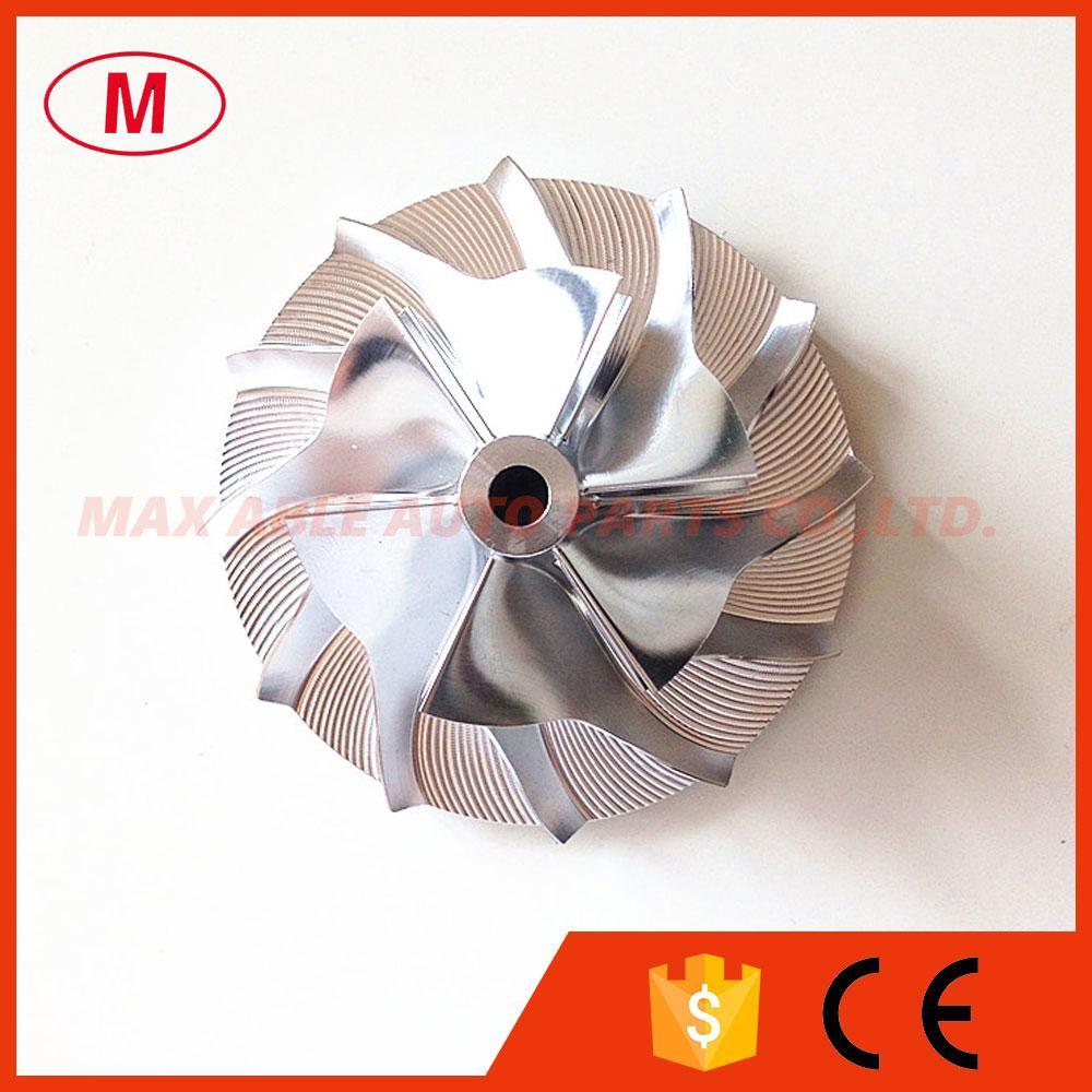 CT10 6 + 6 cuchillas 40.60mm / 64.00mm Turbocompresor Aluminio 2024 / Fresadora / Rueda de compresor de Billet para actualización 17291-0L020HF TURBO / CHRA