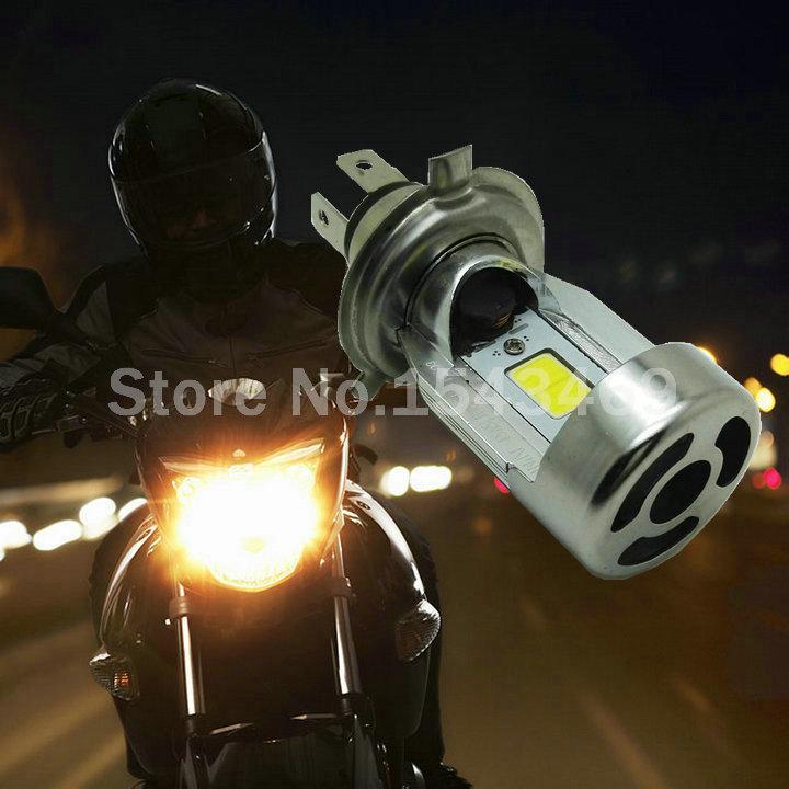 100% Genuine Motorcycle LED faro H4 Hi Lo Bulb Lampadina HS1 COB Lampada a testa cob 20W * 2 2000LM * 2 DC12V 6500K Motobike White Motobike impermeabile