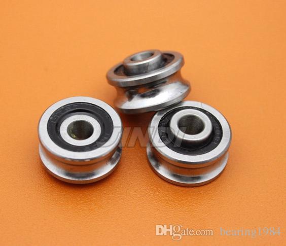 20 pz di alta qualità SG66 tessile macchine ruota cuscinetto 6 * 22 * 10 mm U groove cuscinetti di guida puleggia (sfere a doppia fila) ABEC-5