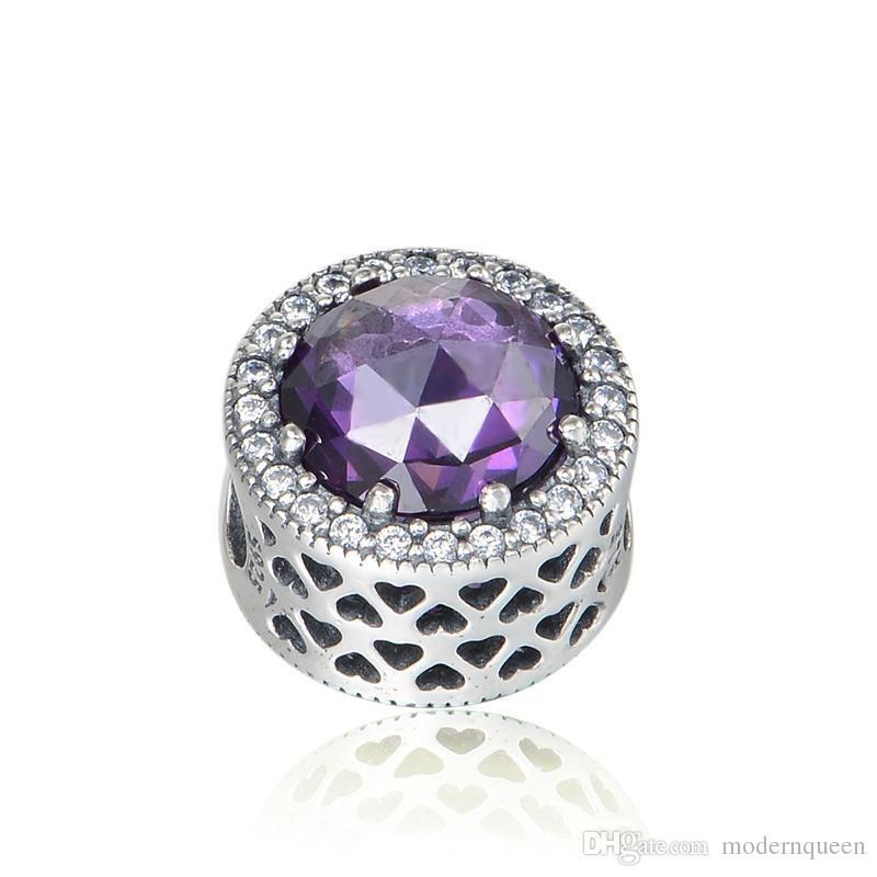 charm pandora violet
