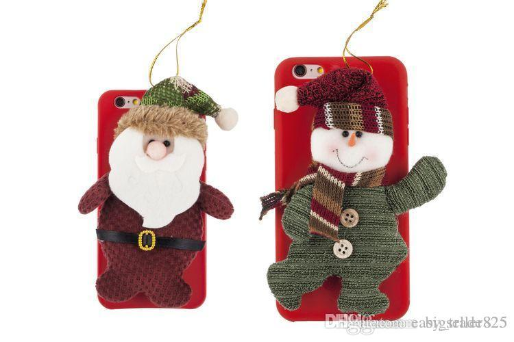 2015 New Christmas Gift Gifts Design fashion Phone Shell Snowman Case Santa Claus Back Cover For Apple iPhone 6 6Plus 6s Plus 5s