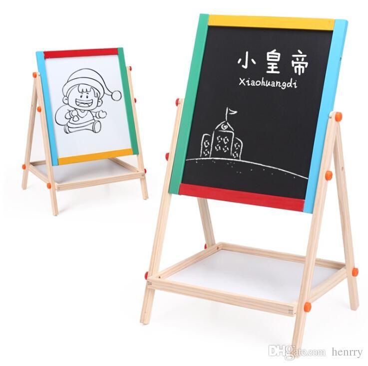 Деревянный двусторонний магнитный Блокнот. Окрашенные деревянные доски для письма раннего детства развивающие игрушки. Мольберт, чертежная доска