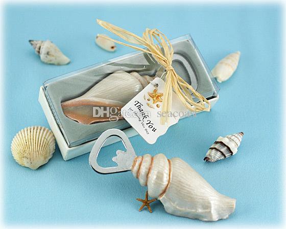 30pcs Sea Shell Openers Seashell Bottle Opener Sand Summer Beach Theme Shower Wedding Favors Gift in Gift Box
