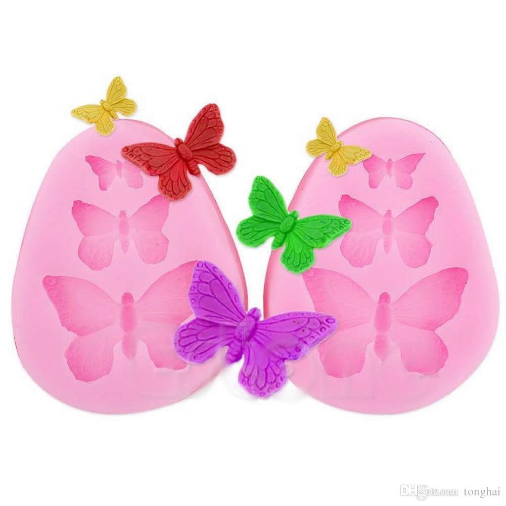 Atacado Silicone Lace Butterfly Fondant Sugar Craft Molde Do Bolo de Decoração Molde Ferramenta H210322