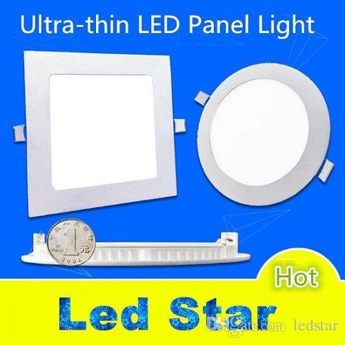 "Luces de panel LED de 4 ""/ 5"" / 6 ""/ 7"" / 8 ""Luces de techo delgadas regulables LED de 9W / 12W / 15 / 18W / 25W AC 110-240V incluyendo controladores"