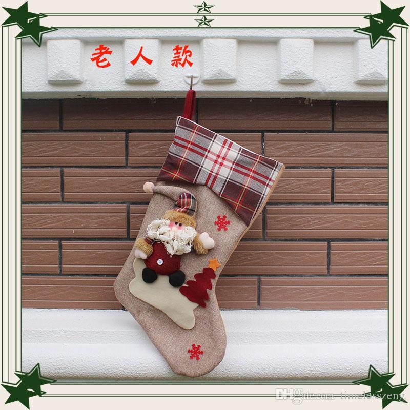 Regali Di Natale Fratello.Acquista Calza Di Natale Da Grande Fratello Di Alta Qualita Regali Creativi Di Calze Di Caramelle Calze Di Natale La Vendita Calda Festosa A 4 39 Dal