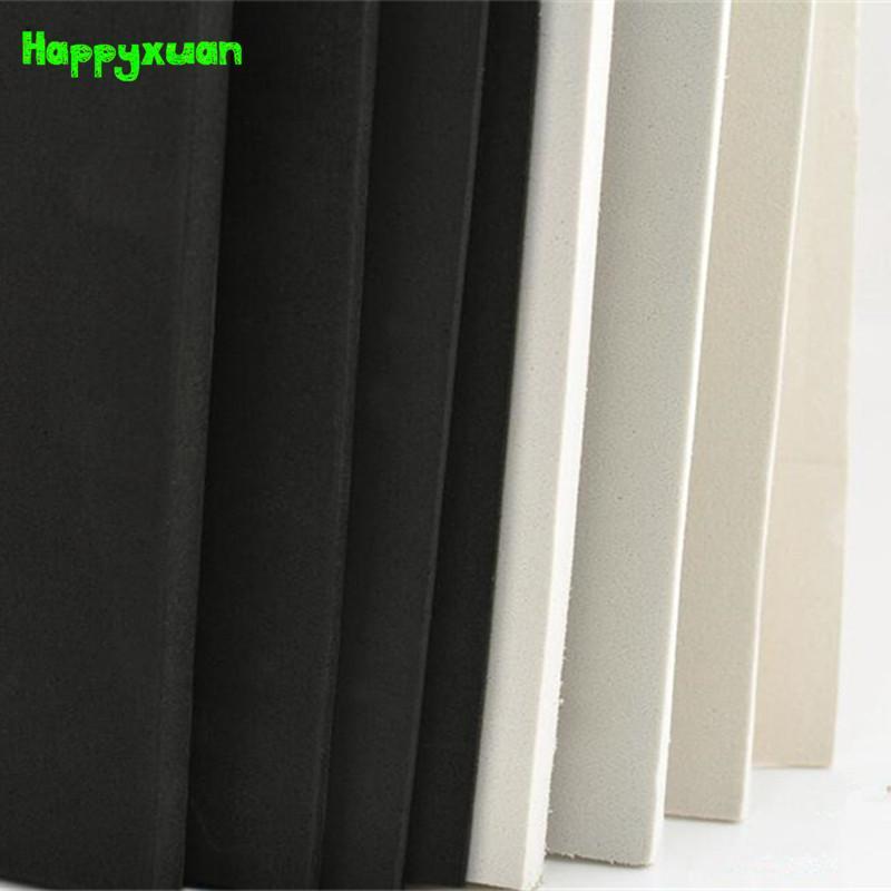 Wholesale- HappyXuan 2 pcs / lot 50 * 35cm 10mm EVA Feuille de mousse Cosplay Blanc Black Noir Sponge DIY Craft Matériaux