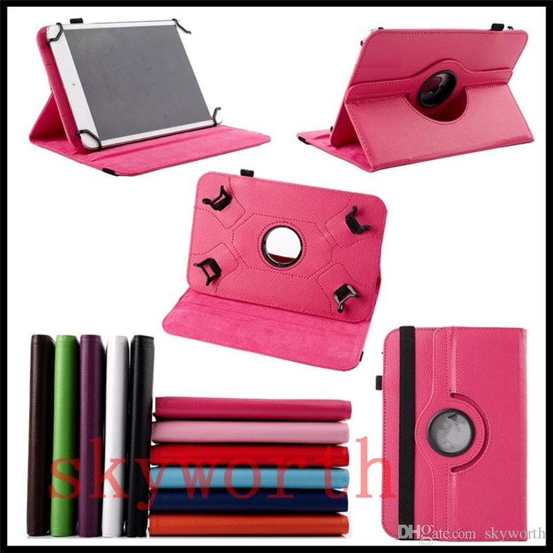 Universal 360 rotating case for 7 8 9 10 inch tablet MID Q88 A13 Galaxy tab 4 7.0 T230 T530 ipad Stand