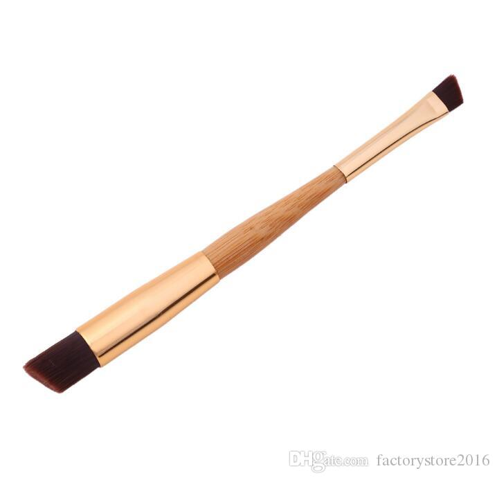 Drop Shipping Double sided bamboo pole makeup brush eyebrow brush nasal profile eye shadow makeup tools makeup brushes