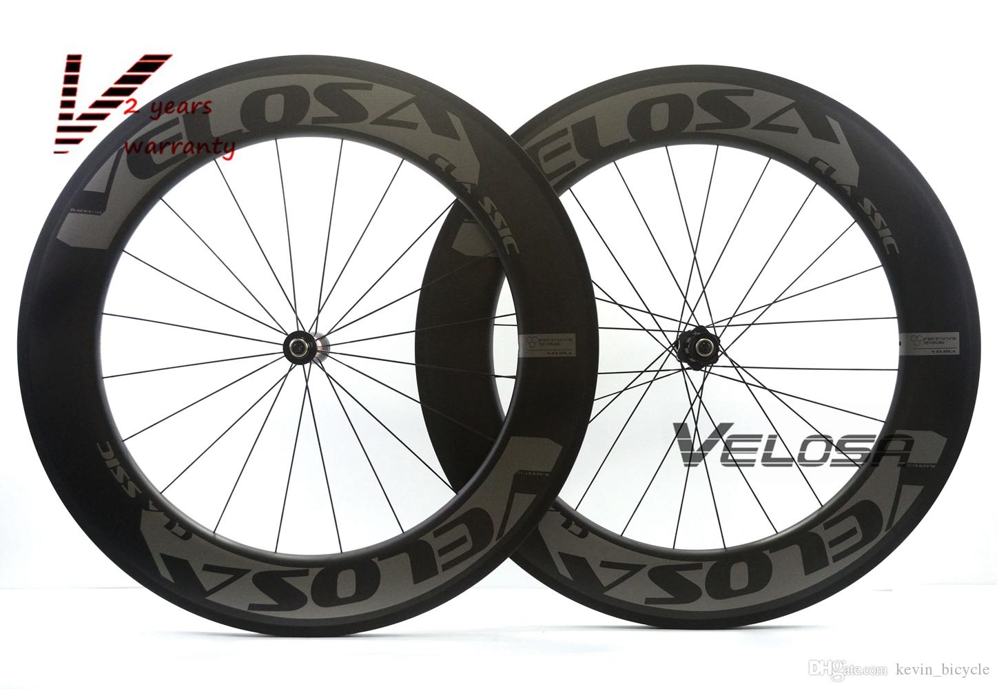 88mm Clincher Road Bike Bicycle Carbon Racing Wheels Super Light Carbon Wheels