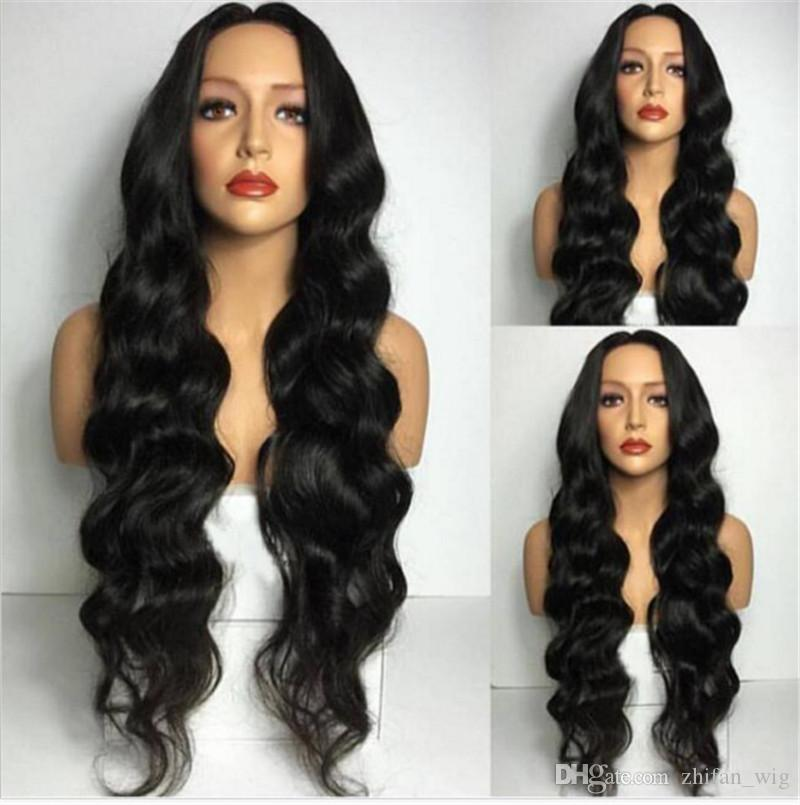 ZhiFan curly braided hairstyles 28inch long wig styles for black women wavy wigs cheap charming natural wave
