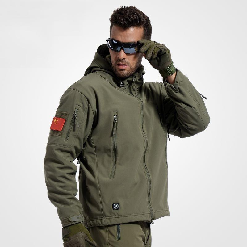 Hot Sale Army Camouflage Coat Outdoors Jacket Man Waterproof Windbreaker Tactical Softshell Hoodie Jacket Army Clothing