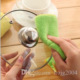 Sinland البيت تنظيف القماش منشفة المطبخ غسل صحن antigreasy متعدد الألوان السحر الخيزران الألياف غسل صحن تنظيف القماش تجوب الوسادة