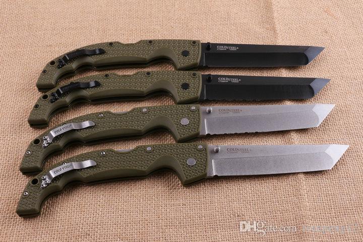 transporte livre aço frio COLD HNA faca dobrável 10 modles ao ar livre sobrevivência acampar caça faca faca dobrável 1pcs
